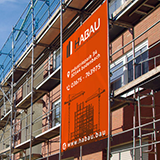 Design your own construction banner from mesh