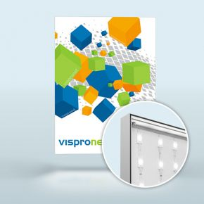 Light Box Q-Frame® LED, profile 50 mm