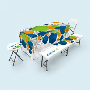Tablecloths, throws & seat cushion for folding furniture