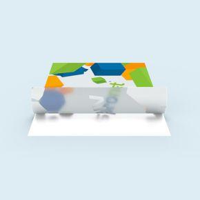 Glass decorative film, self-adhesive