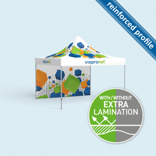 Pop Up tent Select 4 x 4 m, 1 wall with print