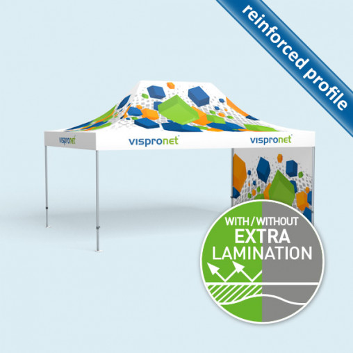 Pop Up Select 4 x 6 m with 1 printed wall (print inside)