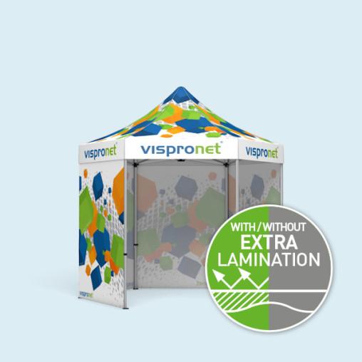 Gazebo Select Hexagon 3 m, 4 full walls with print