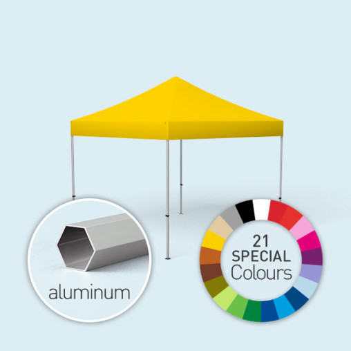 Pop Up Tent Select, 3 x 3 m, printed in special colours, yellow