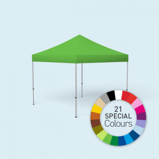 Pop Up Tent Basic, available in 3 sizes and 21 standard colours