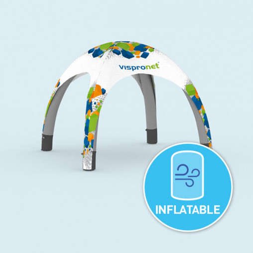 Branded inflatable tent with bound egde - available in 3 sizes
