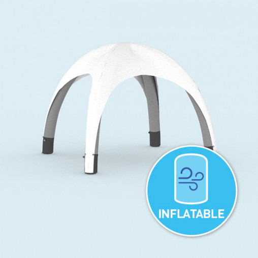 white inflatable tent - available in 3 sizes