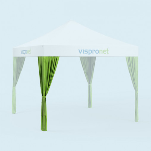 Lime green leg drapes - additional 19 colors available without print