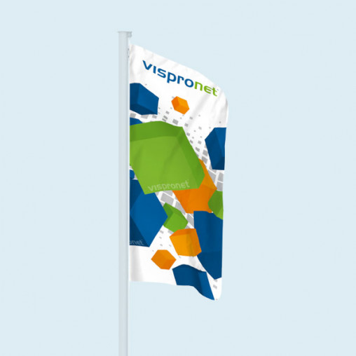 Flag in vertical format, material Multiflag® SE