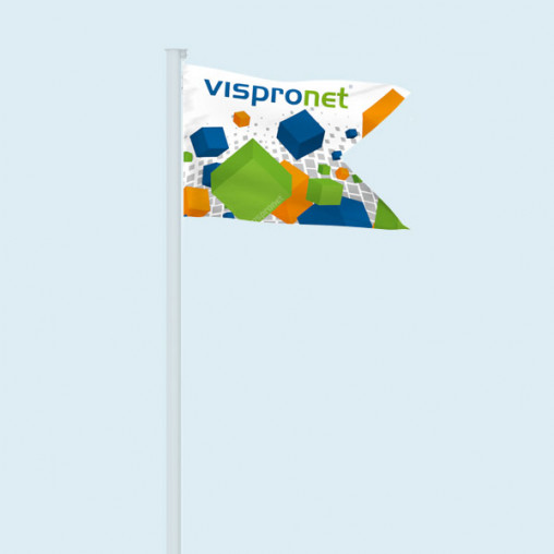 Flag in horizontal format with swallow tail