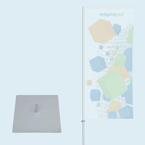 Flagpole Economy with base plate 30 x 30 cm/4.3 kg