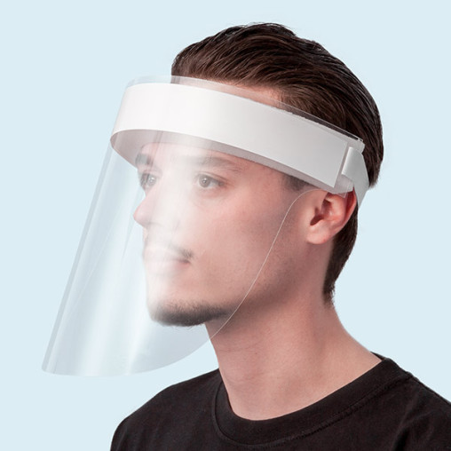 Face shield with plastic visor