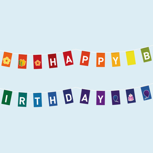 Lettering: HAPPY BIRTHDAY
