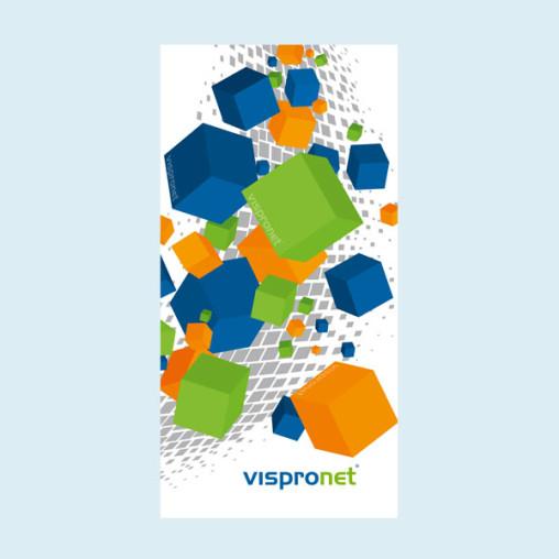 Advertising banner, PVC-banner Basic in vertical format