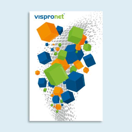 Poster aus Acrylglasplatten im Hochformat, Option: Weißdruck vollflächig