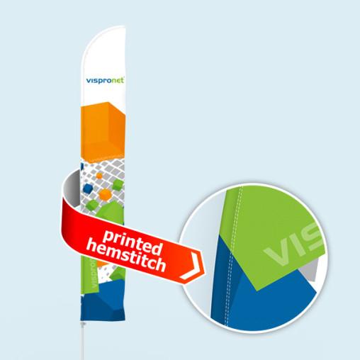 Bowflag® Select Tube, gerade, Hohlsaum bedruckt - ca. 10% mehr Werbefläche