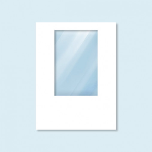 Wall Hexagon with window, white without print, width - 150 x 200 cm