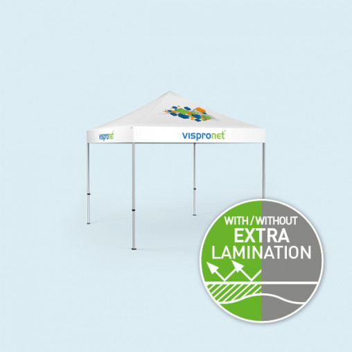 2 Gazebos Select 3 x 3 m, roof & valance with print without walls