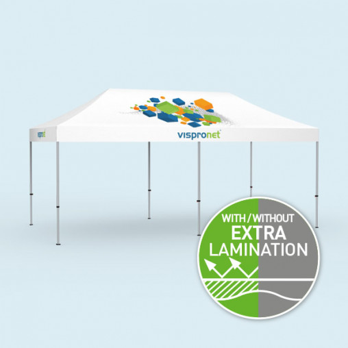 Gazebo Select 3 x 6 m, roof & valance with print without walls