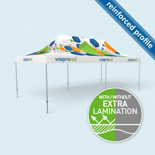 Gazebo Select 4 x 8 m, roof & valance with print without walls