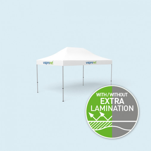 Pop Up Tent Basic 3 x 4.5 m, only valance with print without walls