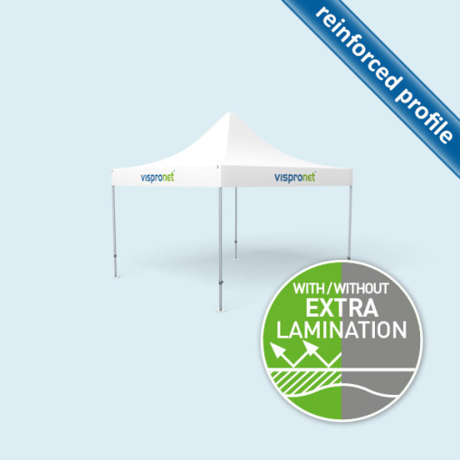 Gazebo Select 4 x 4 m with printed valance & without walls