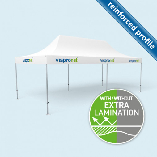 Gazebo Select 4 x 8 m with printed valance & without walls