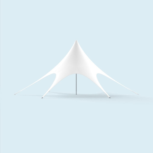 Star Canopyø 12 m unprinted, white with zipper for wall mounting
