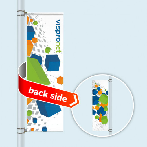 Street Banner Basic, banner arm top and bottom, double sided
