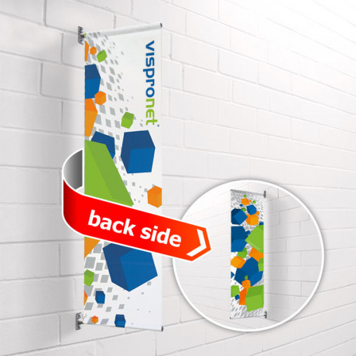 Street Banner Basic wall mounting, double-sided print