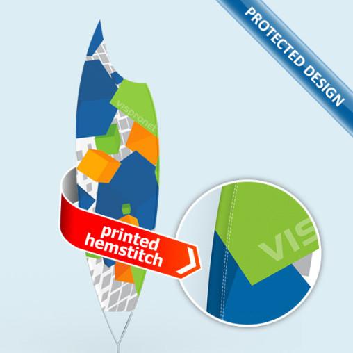 Bowflag® Premium Moon, Hohlsaum bedruckt - ca. 10 % mehr Werbefläche