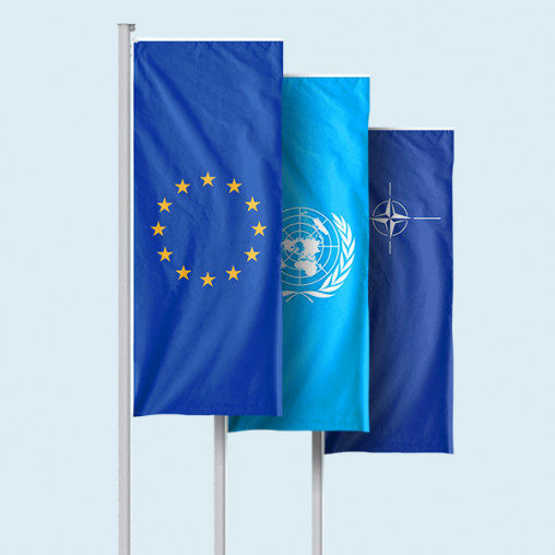Special flags in vertical format with/without presenter Basic
