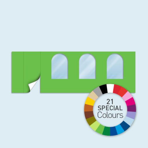 Wand m. Tür links & 3 Rundfenstern Basic/Select, in 21 Sonderfarben erhältlich