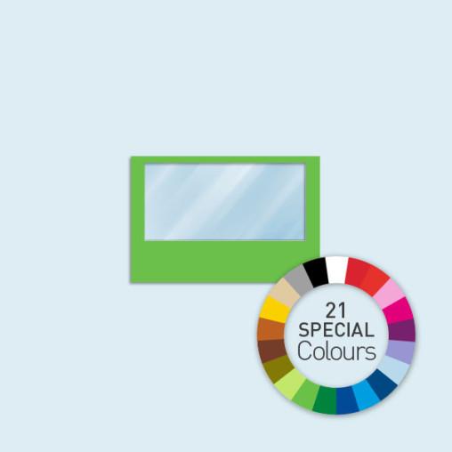 Wand m. 1 Panoramafenster 300 x 205 cm, in 21 Sonderfarben erhältlich