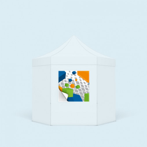 Removable banner in square format for walls Hexagon with