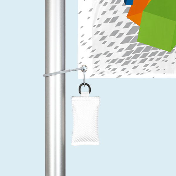 Mobile flagpole T-Pole® 100 with tube base