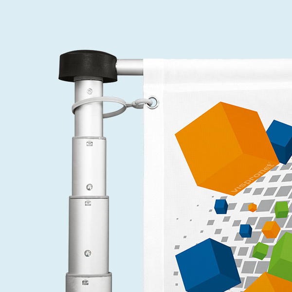 Mobile flagpole T-Pole® 100 with tube base Economy