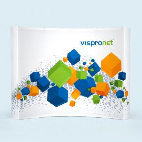 Pop Up Display Velcro curved, 4 x 3