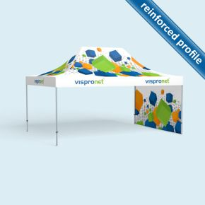 Pop up tent Select 4 x 6 m, 1 wall with print