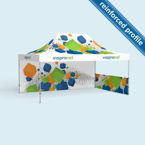 Pop up tent Select 4 x 6 m, 2 walls with print