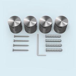 Klemmhalter Edelstahl ø 25 mm/15 mm, für Plattenstärke 2-5 mm