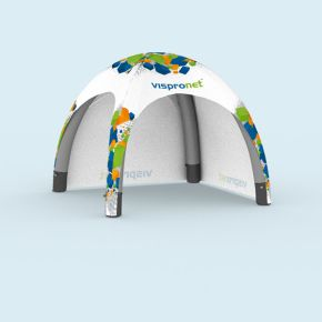 Inflatable Tent Air with 2 solid walls, printed