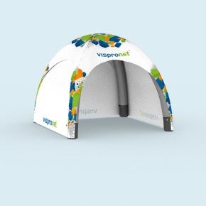 Inflatable Tent Air with 3 solid walls, printed