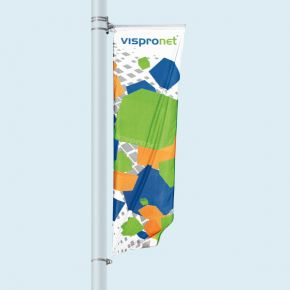 Street Banner Select, top with banner arm, bottom with eyelet bracket