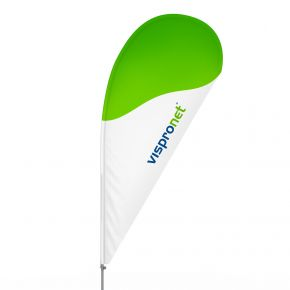 Bowflag® Drop, hemstitch printed - approx. 10% more advertising space