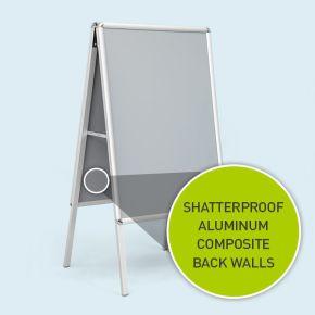 Sidewalk Sign Select, size DIN A0/A2, shatterproof backboard panels