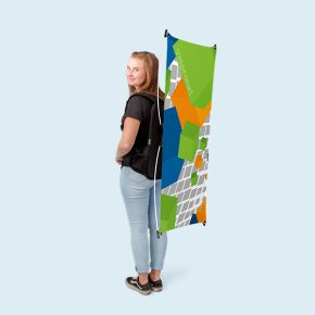 Promotion backpack with display