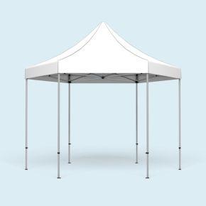 Gazebo Select Hexagon 4 m, roof & valance white without print