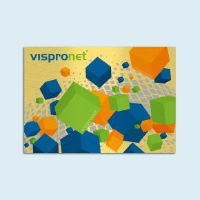 Brushed aluminum composite panels, gold, landscape format