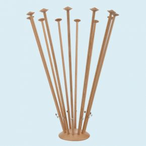 Table Flag Stand, wood, 12 masts, height 42 cm
